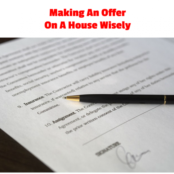 Making an offer on a house in writing