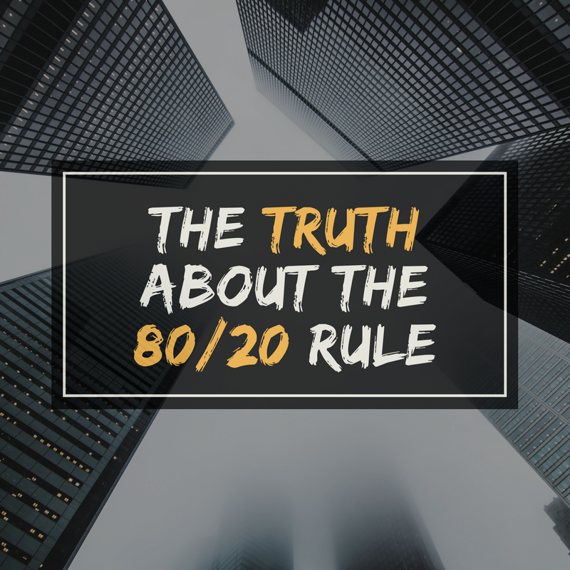 How To Apply The 80/20 Rule