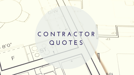 quotes from contractors to rehab property